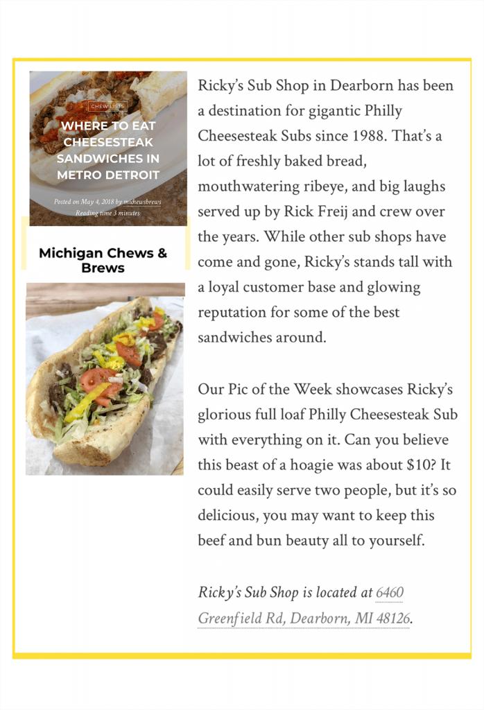 Where to eat cheesesteak sandwiches in Metro Detroit